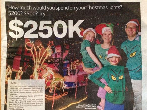 $250k on chrissie lights